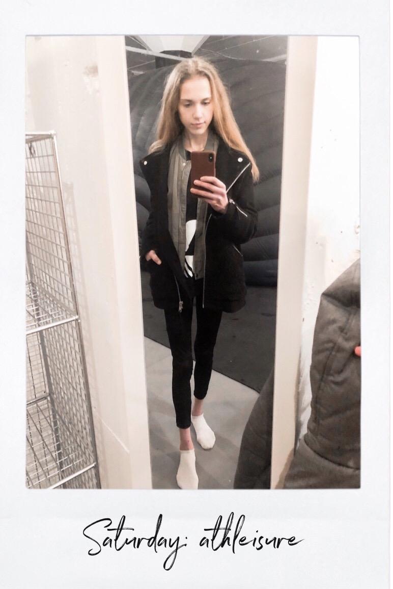 Fashion blogger sporty athleisure outfit - Muotibloggaaja sporttinen asu