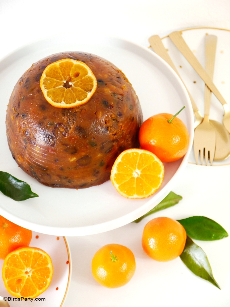Fruity & Boozy British Christmas Pudding Recipe