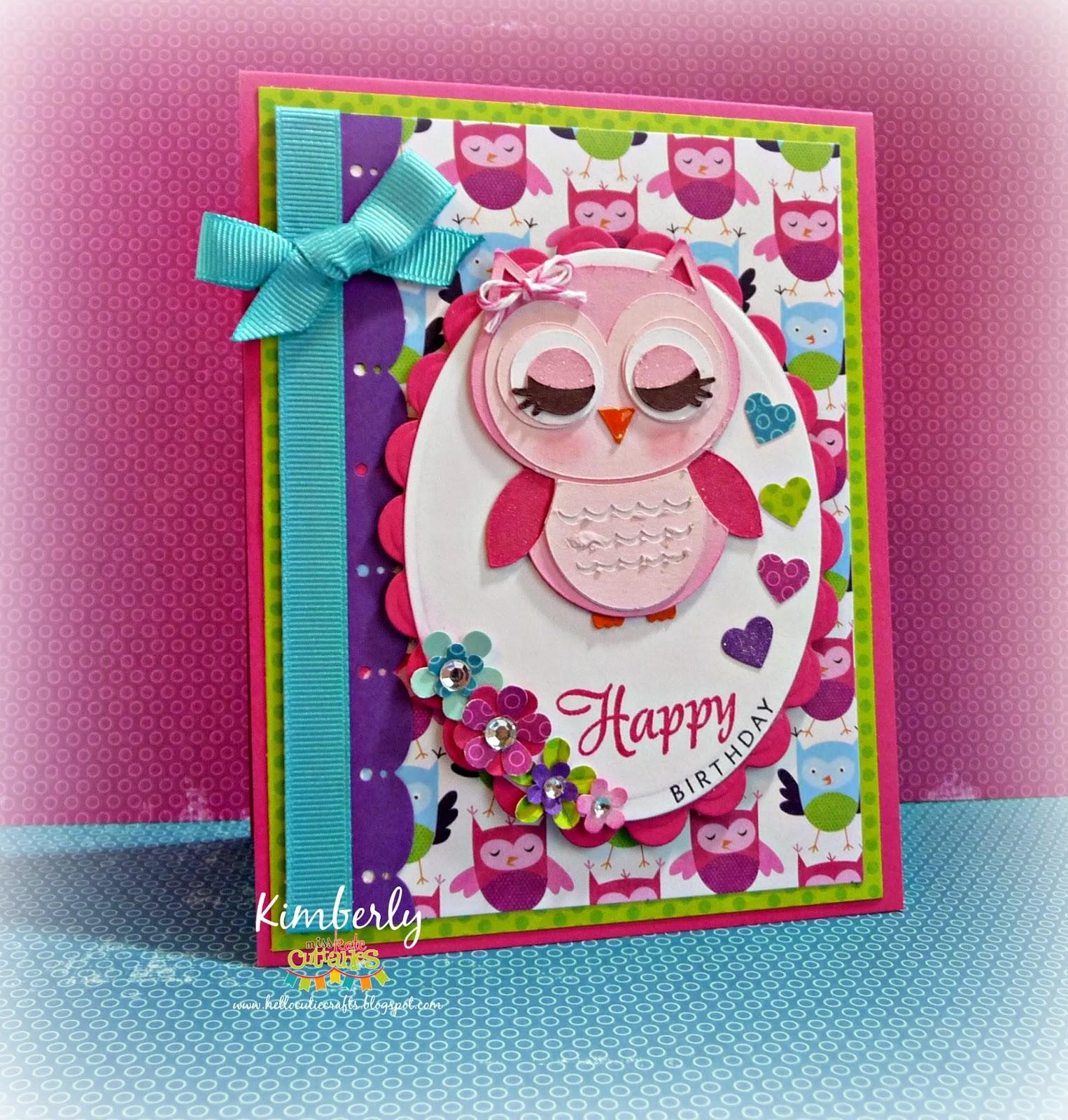 Miss Kate Cuttables: Birthday Owl Gift Set