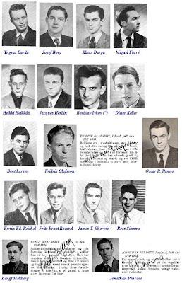 Fotografías de los participantes en el II Campeonato Mundial Juvenil de Ajedrez (Copenhague, 1953)