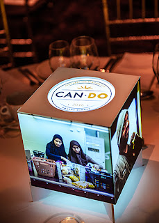 Photo Cube Centerpiece on base
