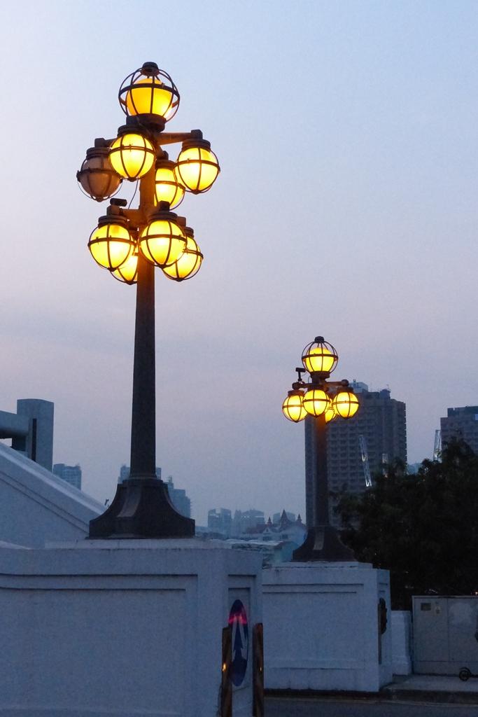 Evening street in Singapore