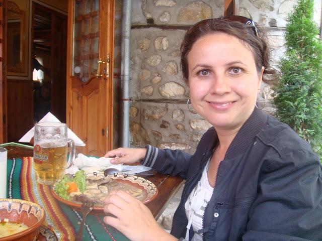 Koprivshtitsa'da yemek yerken