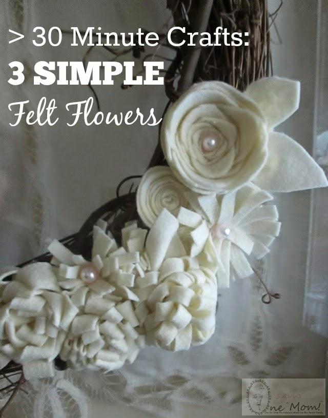 45f80defde8eb9 30 Minute Crafts  How To Make Felt Flowers 3 Ways + Felt Flower Wreath  Tutorial