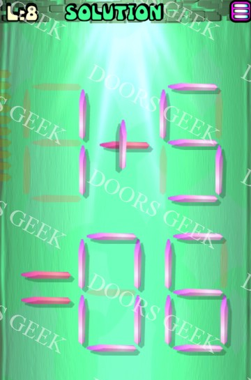 Matches puzzle episode 12 level 8 solution doors geek for 16 door puzzle solution