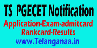 Telangana TS PGECET 2016 Notification-Application-Exam Date-Admit Card-Result