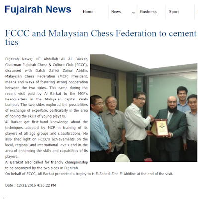 FUJAIRAH NEWS: FCCC, UAE  and MCF Committee