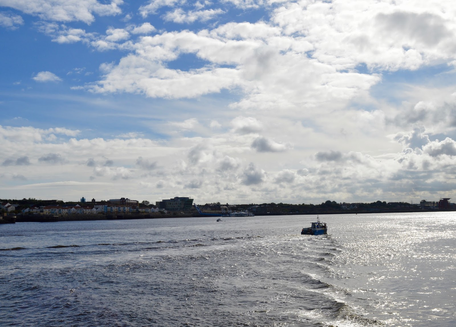 Explore the Great North Snowdogs with Tyne & Wear Metro -view from Shields ferry