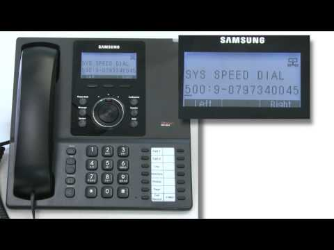 How To Add A Speed Dial To A Samsung DCS Phone System Or