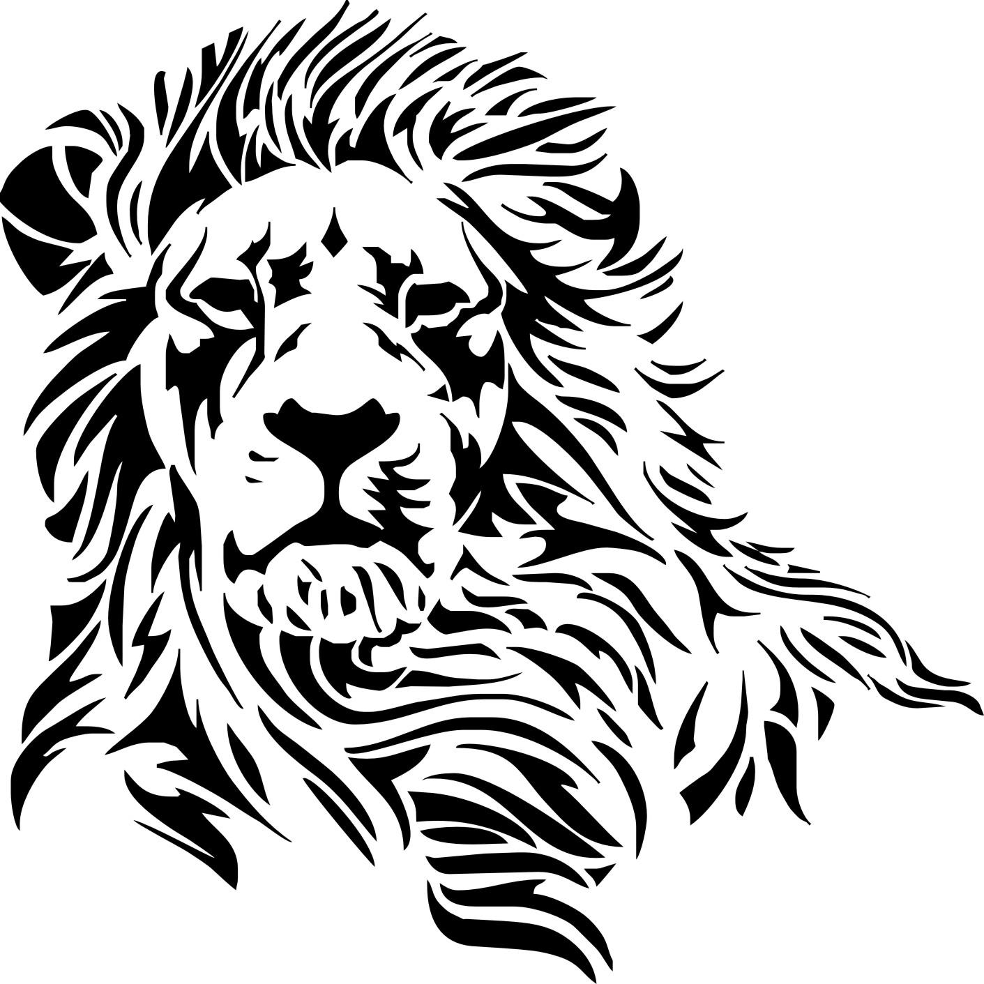 Sticker Blickfang: Wandtattoo Löwenkopf