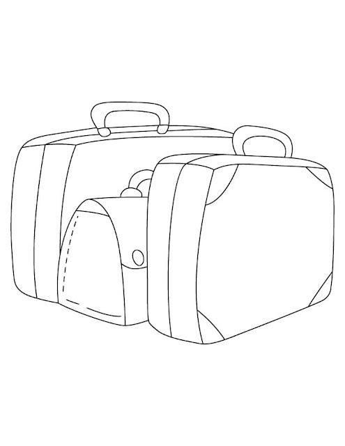 dibujo de maletas para pintar