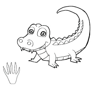 Cute Crocodile Coloring Pages For Kids Images