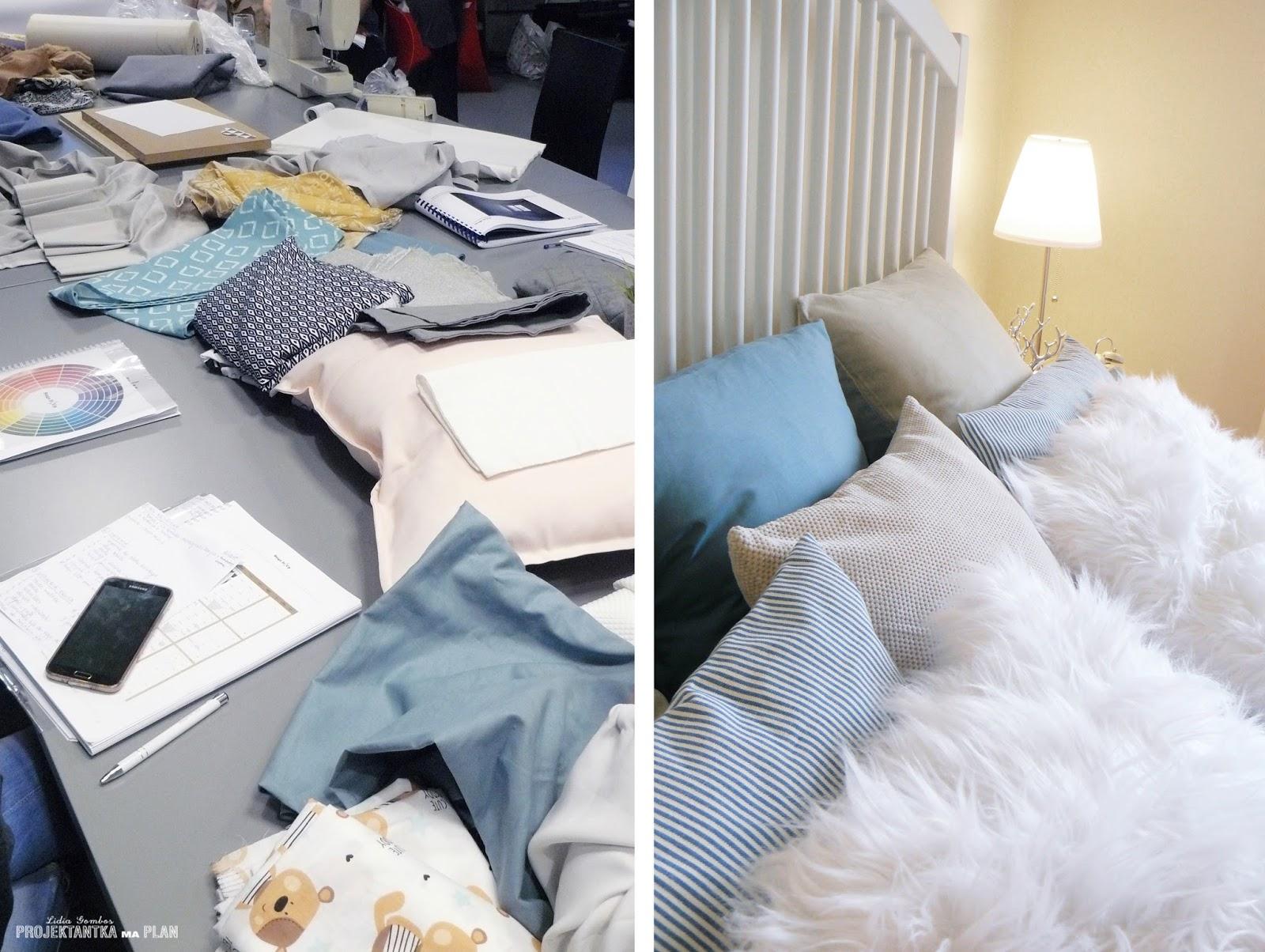 Zajęcia z wykorzystaniem tkanin i materiałów tapicerskich - kurs home staging