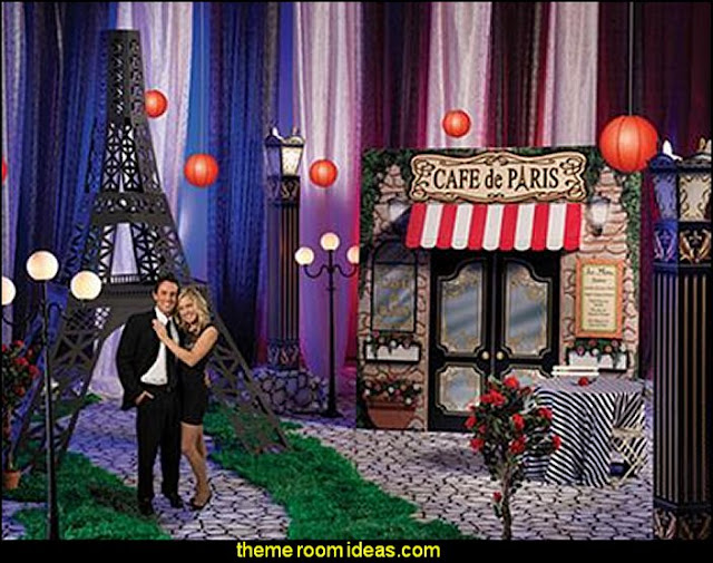 Cafe de Paris Decorating Kit  Paris party decorations - Paris themed party supplies - Party in Paris Birthday Party Decorations  -  Pink Paris Party -  Paris party balloons - Eiffel Tower Favor Boxes -  French-themed celebration  - Pink Poodle Paris Theme Birthday Party