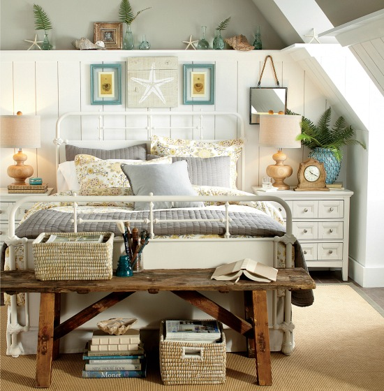 Beachy Country Cottage Style Bedroom