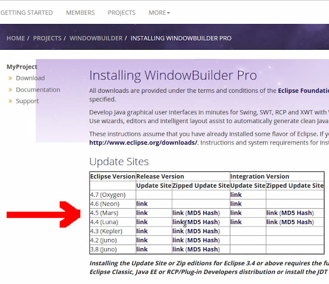 Windowbuilder link