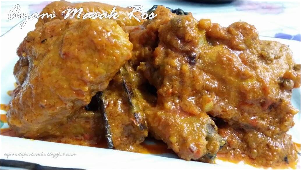 Sajian Dapur Bonda Ayam Masak Ros Mamak Penang Menu Keluarga Di Hujung Minggu