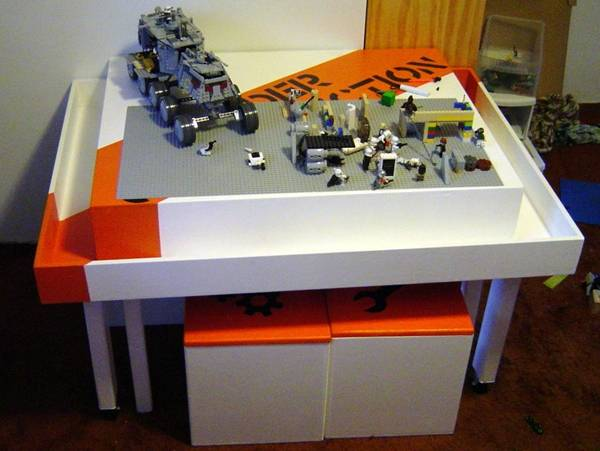 5 awesome diy lego tables for kids diy craft projects for Table design lego