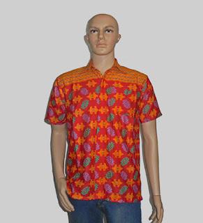 Baju Batik Pria [H1286] Merah