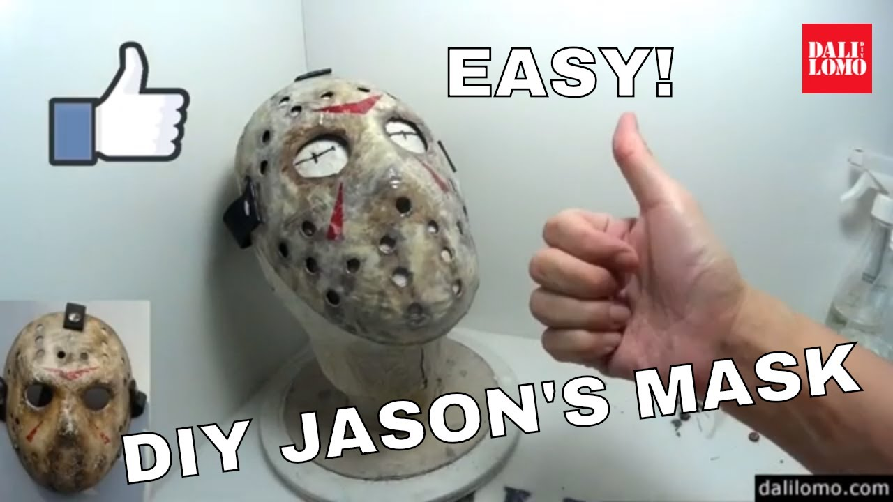 Happy Halloween How I Make Jason Mask Using Limited Resources At Home Inspired By Friday The 13th Movie
