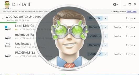 تحميل برنامج استعادة الملفات المحذوفة disk dril للكمبيوتر