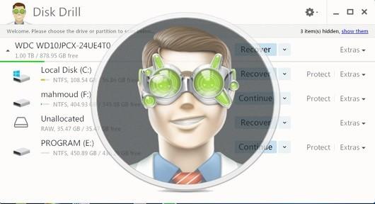 برنامج استعادة الملفات المحذوفة disk dril