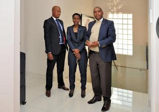 Nozuko Nxusani with Selemo Ben Makubung and Frank Koko