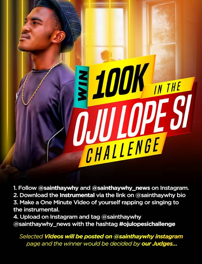 """Win 100k And A Collaboration With Fast Rising """"Saint Hawwhy"""" #ojulopesichallenge"""