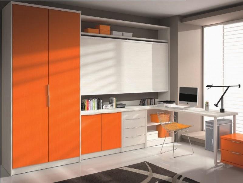 Diseño de oficina naranja
