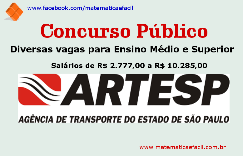 Concurso Público para a ARTESP