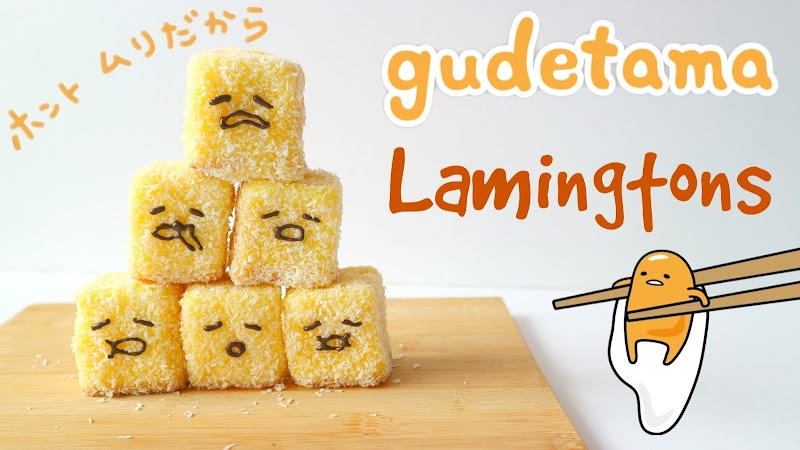 Gudetama Lamington 蛋黃哥林明頓蛋糕