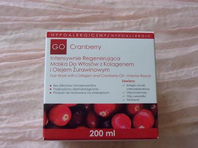 Maska do włosów z kolagenem i olejem żurawinowym Go Cranberry