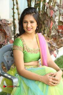 Actress Nikitha Bisht Stills in Lehenga Choli at Pochampally Ikat Art Mela Launch  0342.JPG