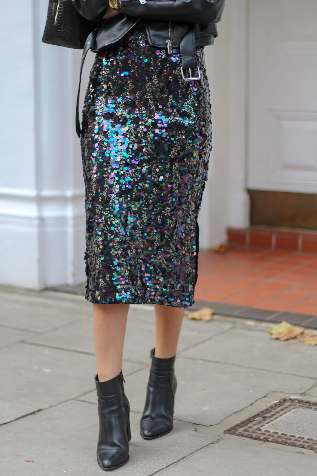 peexo sequin midi skirt marks & spencer