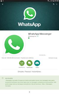 Como instalo o Whats App