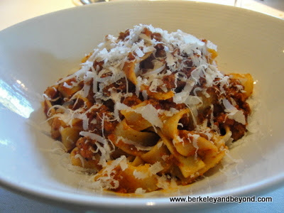 tagliatelle Bolognese at Piazza D'Angelo in Mill Valley, California