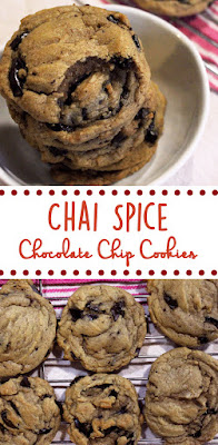 Chai Spice Chocolate Chip Cookies by freshfromthe.com.