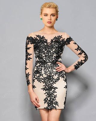 vestido cóctel con estampado elegante