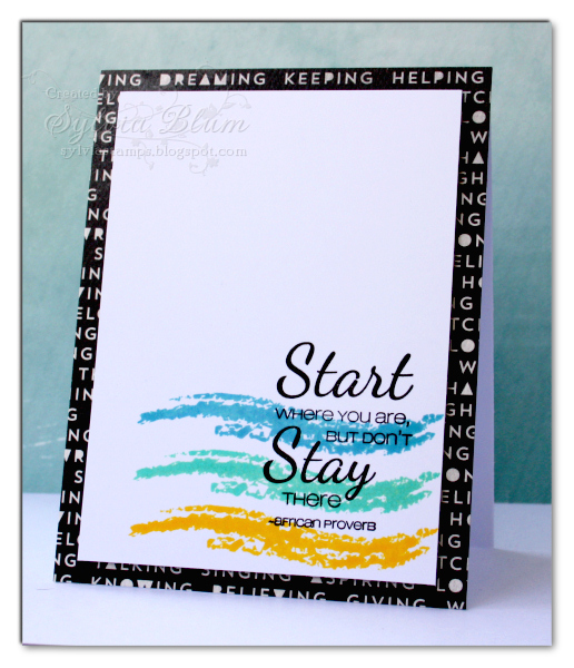 Sylvias Stamping Place}...: Start Where You Are