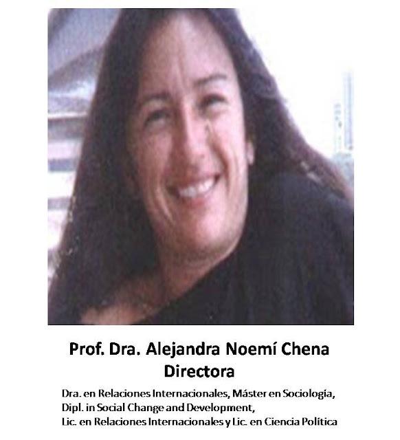 Dra. Alejandra Noemí Chena - Directora de Relaciones Internacionales