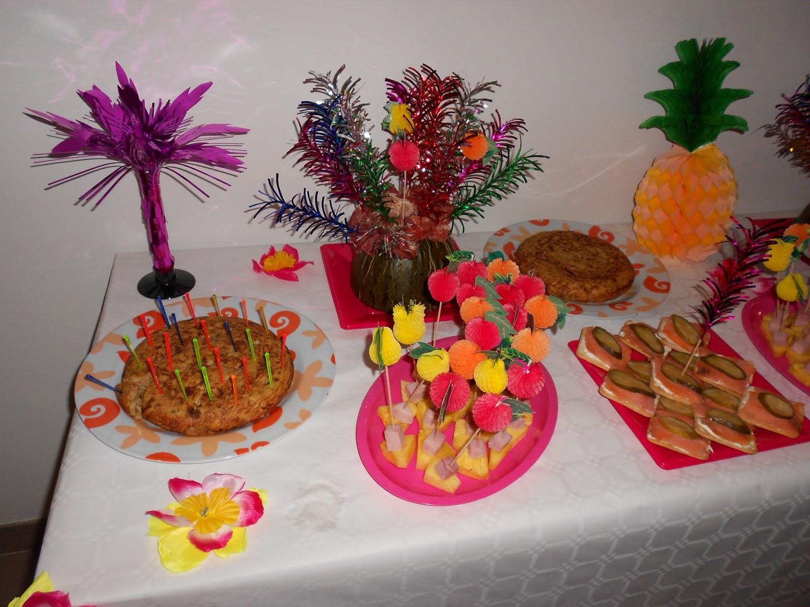 Mis recetas comida hecha en casa fiestas hawaianas - Fiesta cumpleanos adulto ...