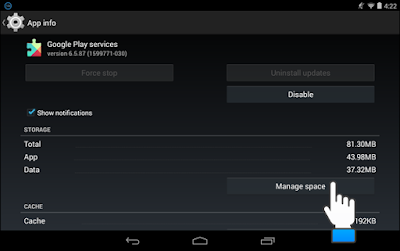 Clear data and cache on Google Play Services