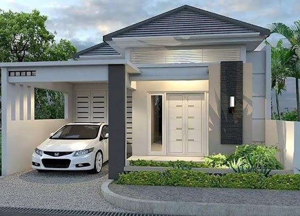 Desain Rumah Minimalis 1 Lantai Dengan Kamar Tidur 3 Atau 4