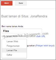 Create Page In Google Site (buat Laman) jonarendra