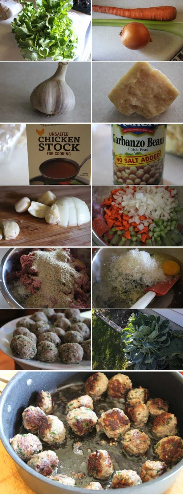 Ingredients for Italian Wedding Soup Ingredients