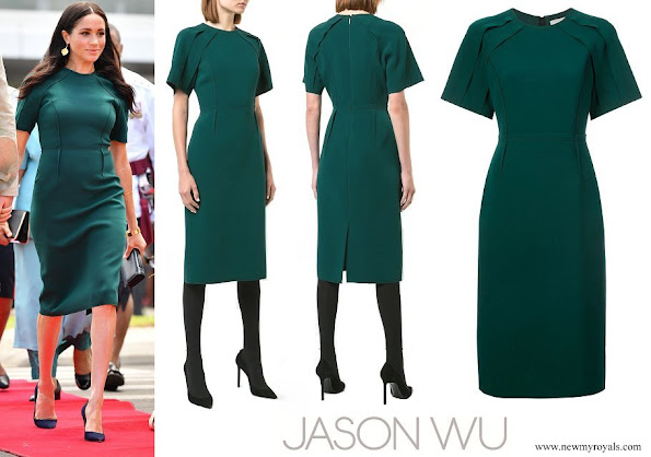 Meghan Markle wore JASON WU COLLECTION fitted midi length dress