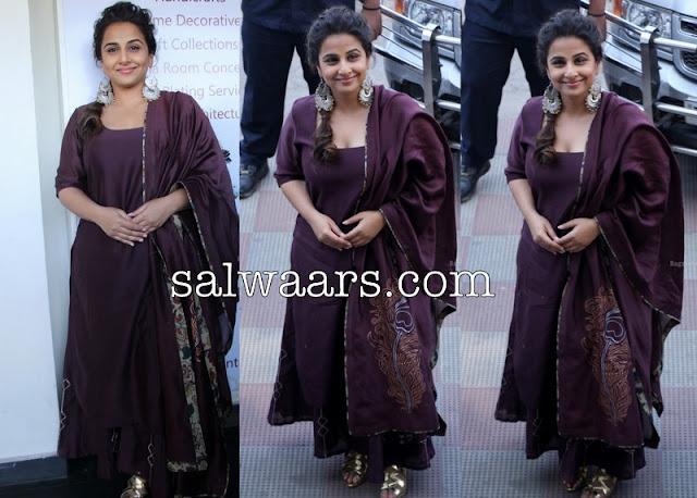 Vidya Balan Designer Silk Salwar