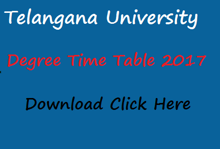 TU Degree Time Table 2017