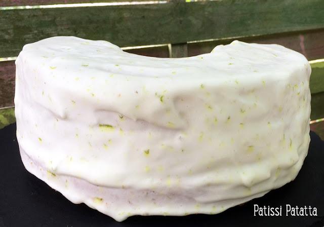 chiffon cake citron vert et citron jaune, recette de chiffon cake, chiffon cake recipe, recette de lemon-curd, gâteau chiffon cake, recette de chiffon cake en français, lemon chiffon cake, chiffon cake citron et rhum, glaçage citron vert, patissi-patatta