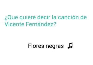 Significado de la canción Flores Negras Vicente Fernández Chente.